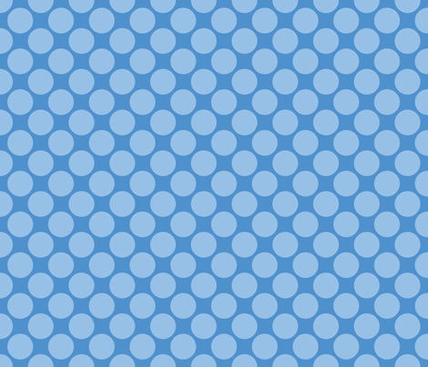 Blue Circus Polk fabric by mayabella on Spoonflower - custom fabric