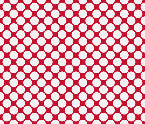 Circus Polk-White on red fabric by mayabella on Spoonflower - custom fabric