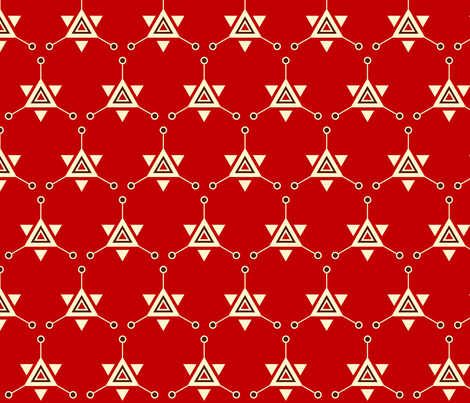 Triangular Galactic Red fabric by siya on Spoonflower - custom fabric