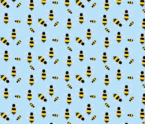 beees-ch fabric by littlepeacock on Spoonflower - custom fabric