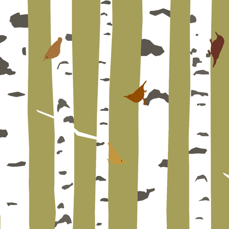 birch_big fabric by troismiettes on Spoonflower - custom fabric