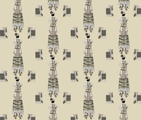 Parisian Dress form fabric by karenharveycox on Spoonflower - custom fabric