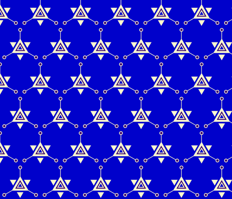 Triangular Galactic Blue fabric by siya on Spoonflower - custom fabric