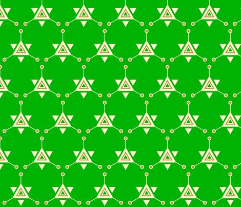 Triangular Galactic Green fabric by siya on Spoonflower - custom fabric