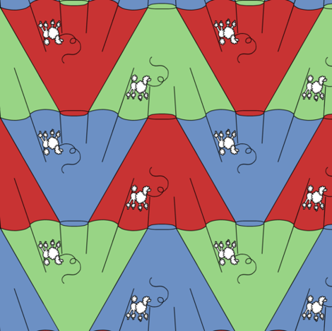 poodle_skirt_tessellation_10 fabric by victorialasher on Spoonflower - custom fabric