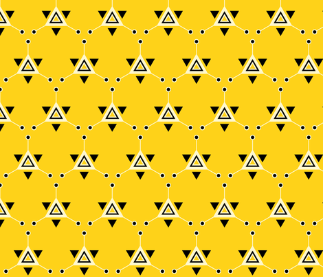 Triangular Galactic Yellow fabric by siya on Spoonflower - custom fabric