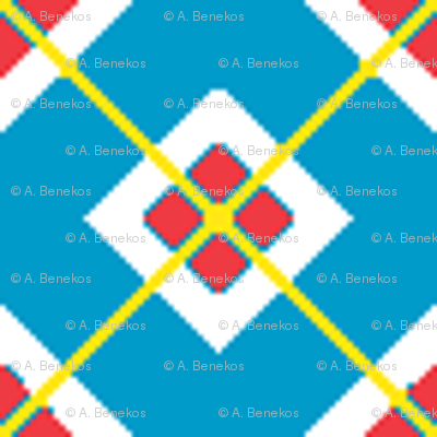 Blue-Red Squares