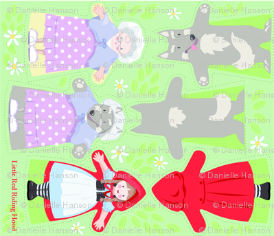 RED_RIDING_HOOD_puppets pattern