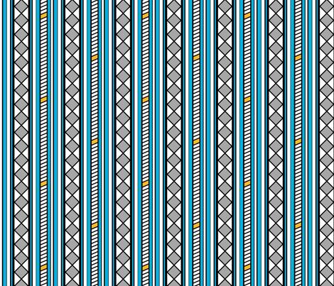 Stepladder and Diamonds Blue fabric by siya on Spoonflower - custom fabric