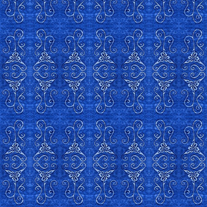 loopy blue knot tile