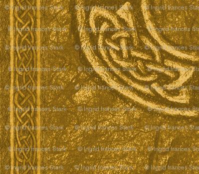 Ancient celtic circle gold