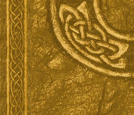 Ancient celtic circle gold fabric by ingridthecrafty on Spoonflower - custom fabric