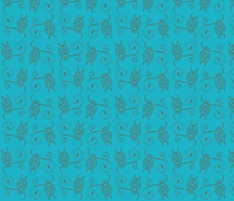 Night Owls fabric by malien00 on Spoonflower - custom fabric