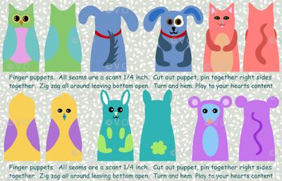 animal kingdom finger puppets