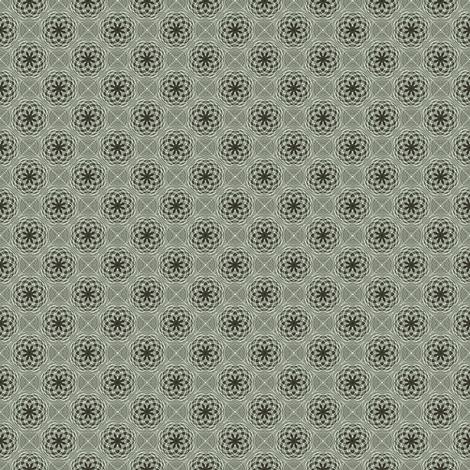 Flower Bubbles Mint fabric by kristopherk on Spoonflower - custom fabric
