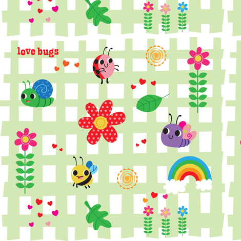 love bugs fabric by fhiona on Spoonflower - custom fabric