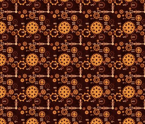 Clockwork 2 B fabric by jadegordon on Spoonflower - custom fabric