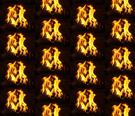 firepit fabric by peanutbearys on Spoonflower - custom fabric
