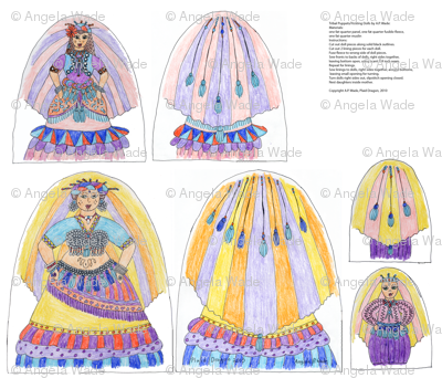 Tribal Belly Dancer Nesting Puppets