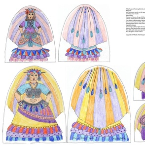 Tribal Belly Dancer Nesting Puppets