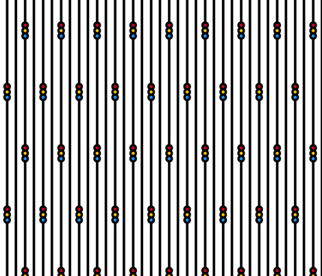 Triple Circle Stripes on White fabric by siya on Spoonflower - custom fabric