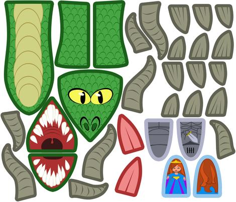 dragonpuppet fabric by garmonsway_designs on Spoonflower - custom fabric