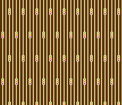 Triple Circle Stripes on Chocolate fabric by siya on Spoonflower - custom fabric