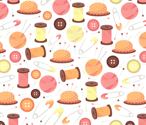 Haberdashery Pattern fabric by totallyjamie on Spoonflower - custom fabric