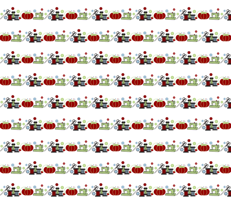 Sewing Supplies-Vintage Tomato fabric by mayabella on Spoonflower - custom fabric