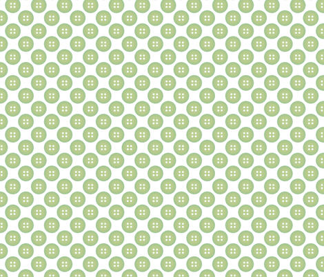 Celery Green Button on White fabric by mayabella on Spoonflower - custom fabric