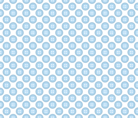 Blue Button on White fabric by mayabella on Spoonflower - custom fabric