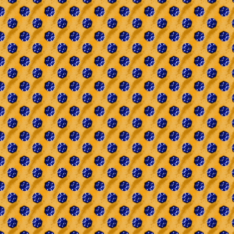 Sapphires on Gold fabric by siya on Spoonflower - custom fabric