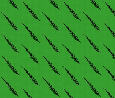 Club Fern Silhouette on Green fabric by siya on Spoonflower - custom fabric