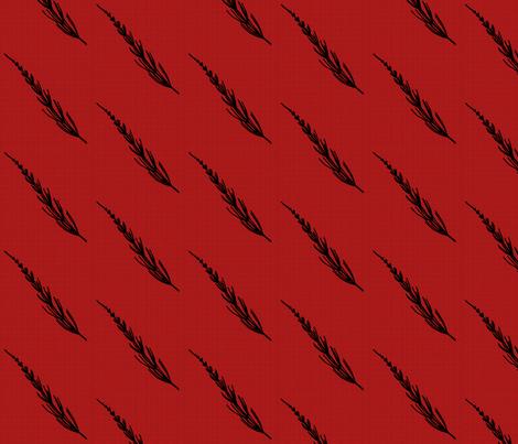 Club Fern Silhouette on Red fabric by siya on Spoonflower - custom fabric