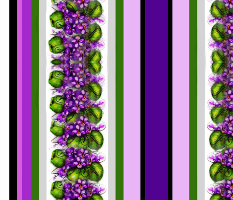 Violets and Stripes fabric by paragonstudios on Spoonflower - custom fabric