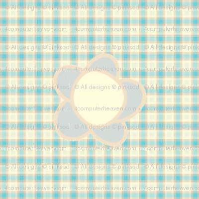 Sweet Folk Garden - Aquaberry Tartan Floral -  © PinkSodaPop 4ComputerHeaven.com