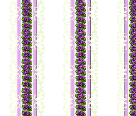 Violets and Brocade Stripe fabric by paragonstudios on Spoonflower - custom fabric