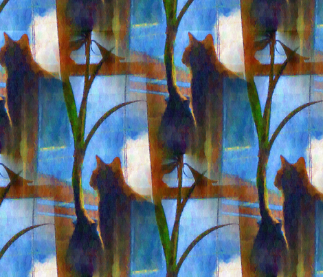 Cat_at_Window fabric by ddmote on Spoonflower - custom fabric