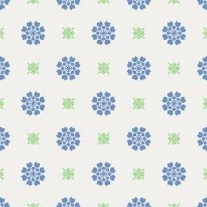 Anemone of my Anemone blue on white