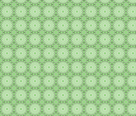 Rock Daisies green fabric by inscribed_here on Spoonflower - custom fabric
