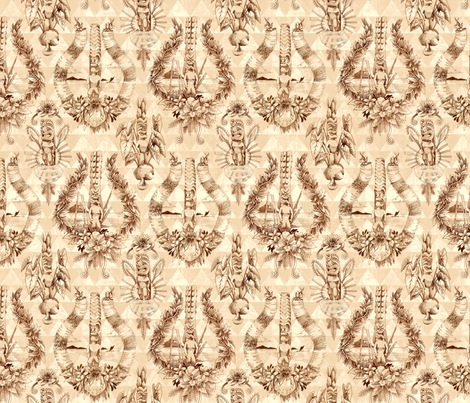 TikiToile2 fabric by kristin_l on Spoonflower - custom fabric