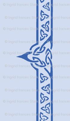 celtic ribbon 2 blue