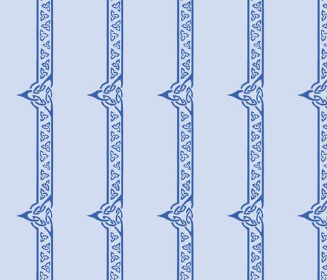 celtic ribbon 2 blue fabric by ingridthecrafty on Spoonflower - custom fabric