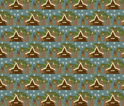 Tiki Tiki Tiki Tiki Scene- Small fabric by mayabella on Spoonflower - custom fabric