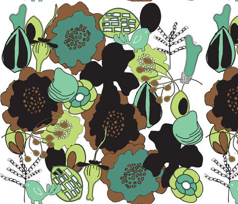 Summer Foliage fabric by sbd on Spoonflower - custom fabric