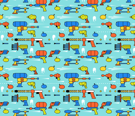 Epic Summer fabric by hitz on Spoonflower - custom fabric