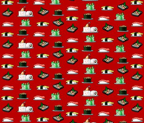 Sushi fabric by jadegordon on Spoonflower - custom fabric
