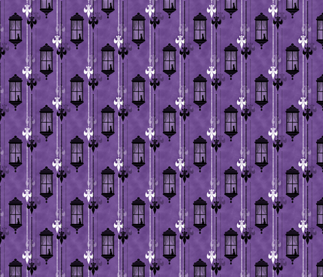 Rainy Fleurs - Violet fabric by siya on Spoonflower - custom fabric