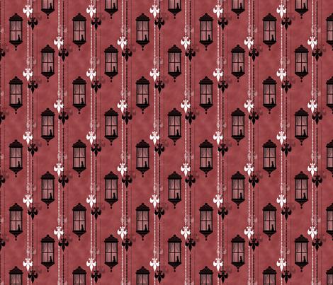 Rainy Fleurs - Amarante fabric by siya on Spoonflower - custom fabric