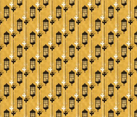 Rainy Fleurs - Jaune fabric by siya on Spoonflower - custom fabric
